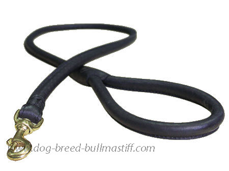 Bullmastiff Leather Latigo Round Lead roller