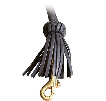 Rolled Leather Dog Leash 4 foot Round lead for Bullmastiff