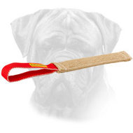Bullmastiff Jute Pocket Toy with Loop-like Handle