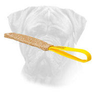Bullmastiff Jute Bite Tug with Comfortable Loop