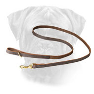 Softly Stitched Leather Bullmastiff Leash