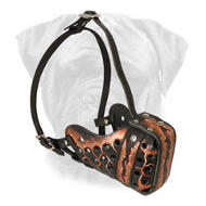 Magma Painted Trendy Leather Bullmastiff Muzzle