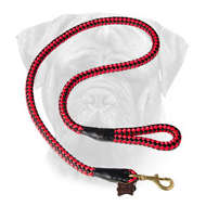Cord Nylon Bullmastiff Leash with Extra Strong Brass Snap Hook