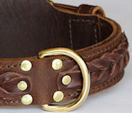 WESTERN DESIGNER CUSTOM LEATHER DOG COLLARS for BullMastiff
