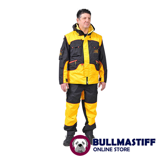 Professional Dog Training Suit of Water Resistant Membrane Material