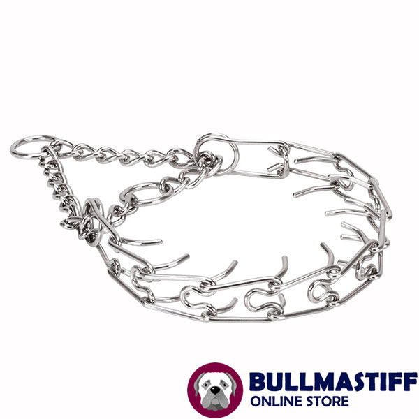 Prong collar of stainless steel for poorly behaved canines
