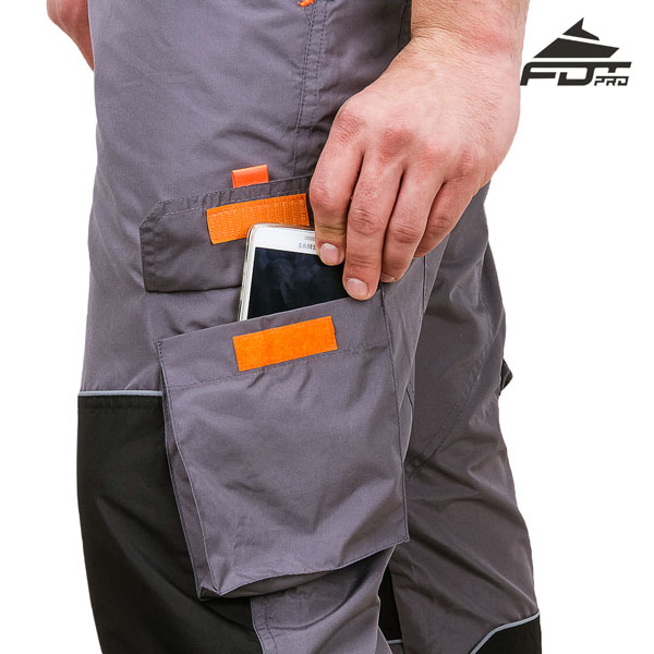 Comfy Design FDT Professional Pants with Handy Back Pockets for Dog Trainers