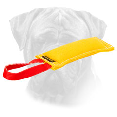 French Linen Bite Tug Bullmastiff with Handle for Puppies
