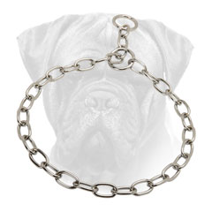 Bullmastiff Choke Collar Chrome Plated for Effective Training