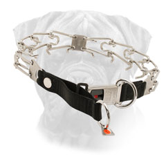 Bullmastiff Pinch Collar Stainless Steel O Rings Lock Buckle for Effective Training