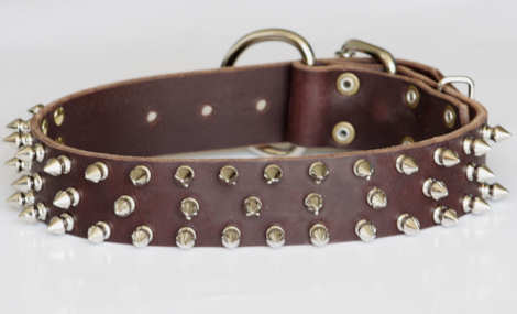 Big spiked dog collar - quality desiger dog colar with spikes