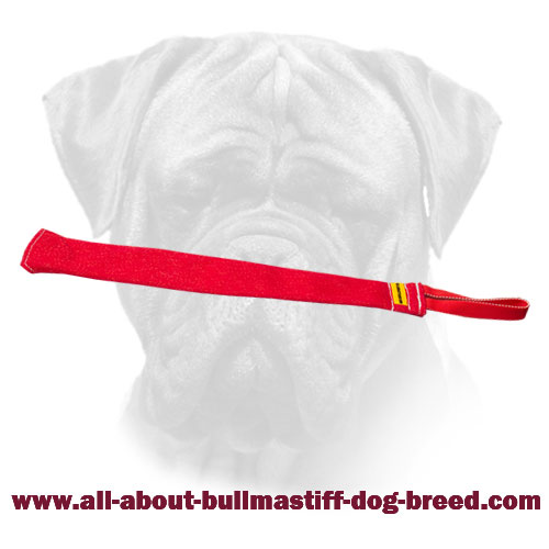 French Linen Bite Rag for Bullmastiff Training - Click Image to Close