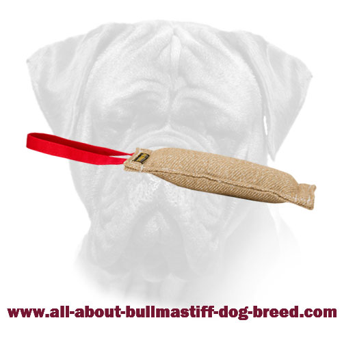 Bullmastiff Bite Tag Made of Jute