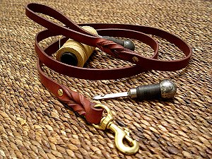 Handcrafted leather dog leash for walking and tracking for dog training or for dog owners  for Bullmastiff