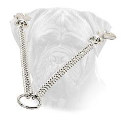 Coupler Bullmastiff Chrome Plated Steel O Ring for Walking 2 Dogs