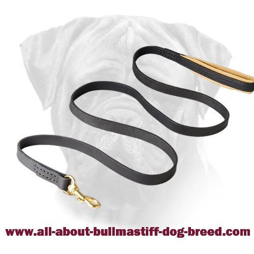 Leather Handmade Bullmastiff Leash