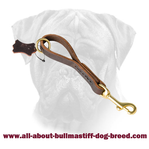 Pull Tub Bullmastiff Leather Hand Stitched