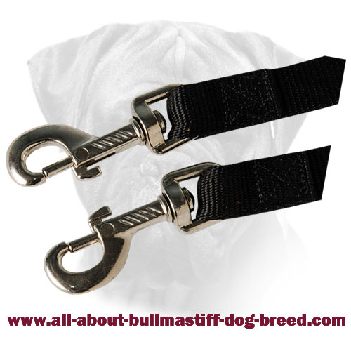 Nylon Bullmastiff Coupler with Nickel Plated Fittings for Walking
