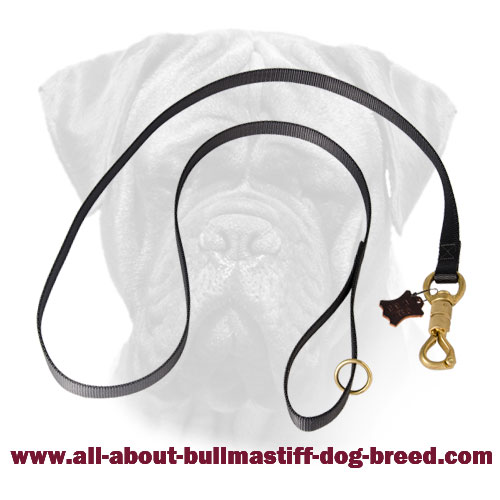 Bullmastiff Nylon Police Leash