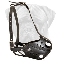 Bullmasiff Leather Muzzle Comfortable and Safe